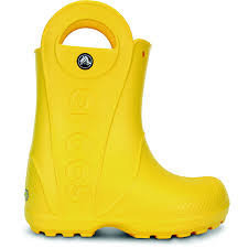 Laste kummisaapad Crocs™ Handle It Rain Boots Kollane
