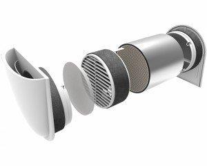 Mini rekuperaator GetAir SmartFan SF100000 + 500 mm toru hind ja info | Konditsioneerid, soojuspumbad | kaup24.ee