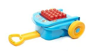 Ratastega kast Fisher Price Mega Bloks, 16-osaline hind ja info | Imikute mänguasjad | kaup24.ee