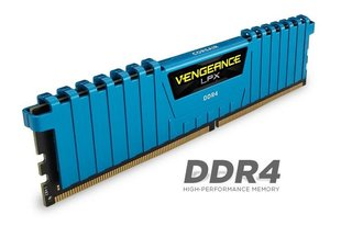 Corsair Vengeance LPX 4x8GB 2666MHz DDR4 CL16 DIMM 1.2V, Unbuffered, Blue
