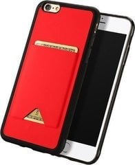 Mobiiltelefoni tagus Dux Ducis Pocard Series Premium High Quality, sobib Apple iPhone 6 Plus / 6S Plus, punane