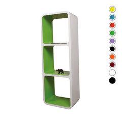 Riiulite komplekt CUBE LO13, valge/roheline hind ja info | Riiulite komplekt CUBE LO13, valge/roheline | kaup24.ee