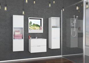 Vannitoamööbli komplekt Lauro, valge hind ja info | Vannitoa komplektid | kaup24.ee