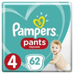 Püksmähkmed PAMPERS Pants Giant Box 4 suurus 9-15 kg, 62tk