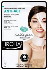 Маска для лица и шеи для зрелой кожи с коллагеном Iroha Cotton Face 30 мл