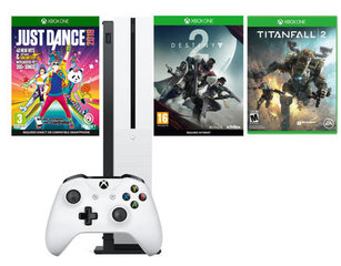 Mängukonsool Microsoft XBOX ONE S 1TB White + Just Dance 2018 + Titanfall 2 + Destiny 2