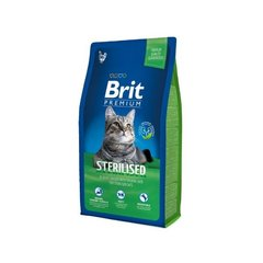 Kuivtoit kassidele BRIT Premium Cat Sterilized, kanalihaga, 0,3kg
