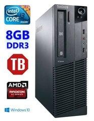 Lauaarvuti Lenovo ThinkCentre M82 SFF i3-3240 8GB 1TB R7 240 4GB DVD WIN10Pro hind ja info | Lauaarvutid | kaup24.ee