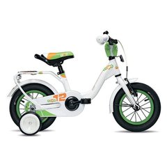 Tüdrukute jalgratas Scool niXe alloy 1 speed-white/green 12""