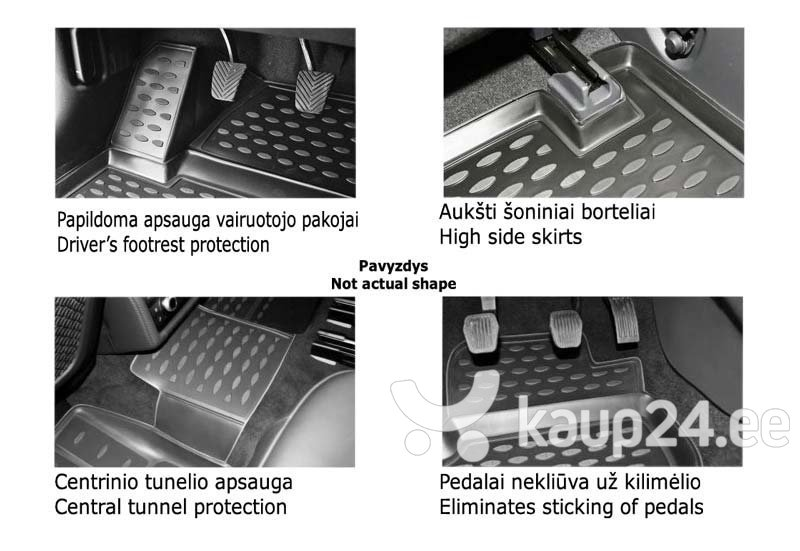 Kummimatid 3D SUZUKI Vitara 2015->, 4 pcs. /L60001