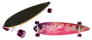 Rula Street Surfing Longboard Pintail 40 Cloudy