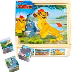 Puidust klotsid Lõvi Kuningas, PlayMe hind ja info | Imikute mänguasjad | kaup24.ee