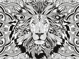 Pusle Clementoni 3D Color Therapy Lion, 500-osaline цена и информация | Пазлы | kaup24.ee
