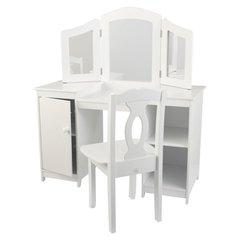 Kosmeetikalaud koos tooliga Kidkraft, valge