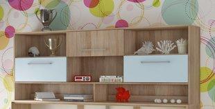 Riiul voodile Roger, tamm/sinine hind ja info | Lastetoa riiulid | kaup24.ee