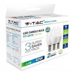 5.5W LED pirn 3 tk, E14