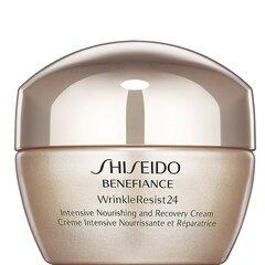 Kortsudevastane näokreem Shiseido Benefiance Wrinkle Resist 24 Intensive Nourishing & Recovery 50 ml hind ja info | Näokreemid | kaup24.ee