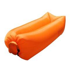 Täispuhutav lamamistool Lazy Bed, oranž