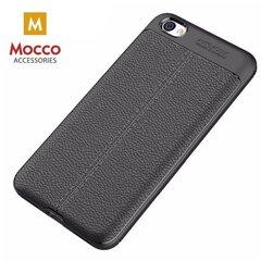 Kaitseümbris Mocco Litchi Pattern, sobib Samsung G965 Galaxy S9 Plus telefonile, must