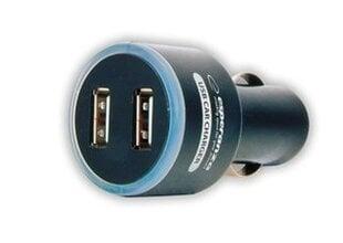 Autolaadija Esperanza2 x USB, DC 12/24V, 5V, 1000mA, must