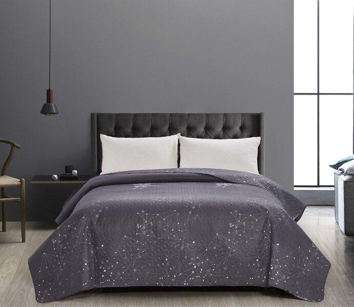 Kahepoolne voodikate Decoking Hypnosis Eagle Grey White, 170x270 cm hind