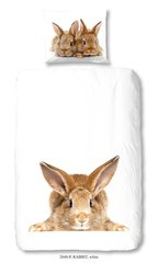 Laste voodipesukomplekt 2-osaline GOOD MORNING Rabbit, 135x200 cm