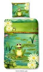 Laste voodipesukomplekt 2-osaline GOOD MORNING Frogs, 140x200 cm