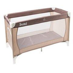 Манеж- кроватка для путешествий Smiki, цвет слоновой  кости