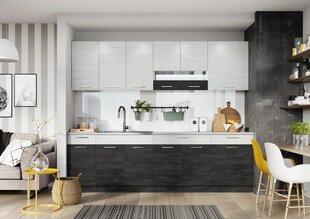 Köögimööbli komplekt Beti 2,6, valge/must hind ja info | Köögimööbli komplektid | kaup24.ee