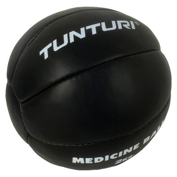 Кожаный весовой мяч для тренировок Tunturi Medicine Ball 2 кг