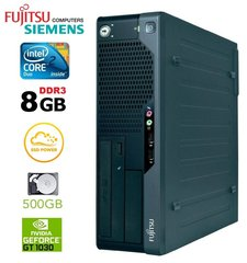 Lauaarvuti Fujitsu Siemens E7935 SFF E7300 8GB 120SSD+500GB GT1030 Win7Pro hind ja info | Lauaarvutid | kaup24.ee