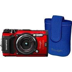 Olympus TG-5, punane + ümbris hind ja info | Fotoaparaadid | kaup24.ee