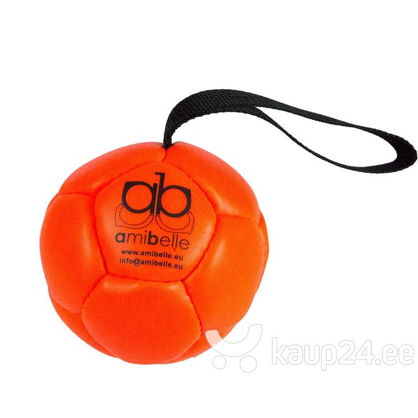 Keskmine pall koertele silikoonist täitega Amibelle, oranž 9 cm