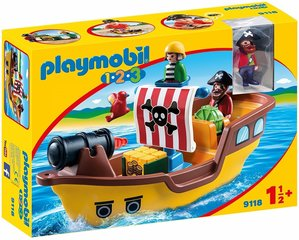 9118 PLAYMOBIL® 1.2.3 Piraatide laev