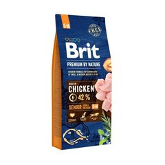 BRIT Premium By Nature Senior Small Medium S+M,3 kg цена и информация | BRIT Premium By Nature Senior Small Medium S+M,3 kg | kaup24.ee
