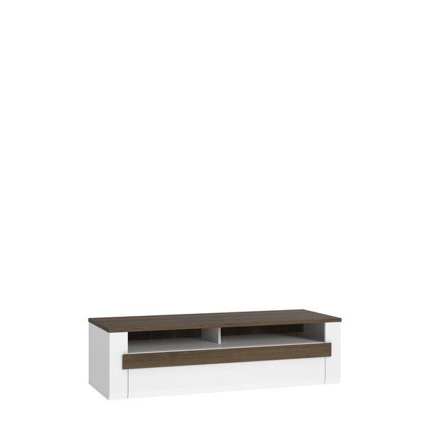 TV laud Recent RCTT121, valge/pruun
