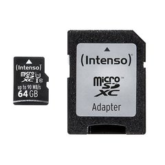 Mälukaart Intenso micro SD UHS-I 64GB CL10 hind ja info | Mälukaart Intenso micro SD UHS-I 64GB CL10 | kaup24.ee
