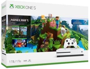 Mängukonsool Microsoft Xbox One S 1TB + MINECRAFT