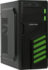 Cooltek KX Green Midi-Tower, juodai-žalias (600046395)