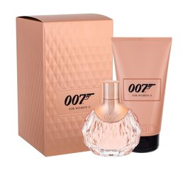 Komplekt James Bond 007 For Women II: EDP naistele 50 ml + kehakreem 150 ml hind ja info | Komplekt James Bond 007 For Women II: EDP naistele 50 ml + kehakreem 150 ml | kaup24.ee