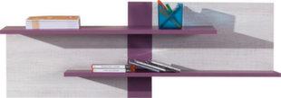 Seinale paigaldatav riiul Next 15, valge/lilla hind ja info | Lastetoa riiulid | kaup24.ee