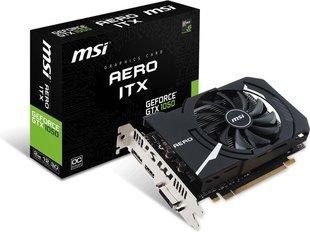 MSI GeForce GTX 1050 Aero ITX OCV1 2GB GDDR5 (128 bit), DVI-D, HDMI, DisplayPort, BOX (V809-2456R) hind ja info | Videokaardid (GPU) | kaup24.ee