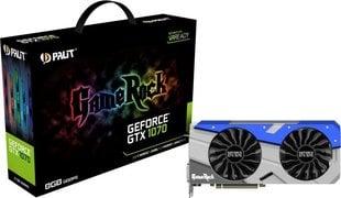 Palit GeForce GTX 1070 GameRock 8GB GDDR5 (256 bit) 3x DP, HDMI, DVI (NE51070T15P2G)