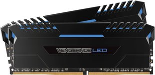 Corsair Vengeance LED DDR4, 2x16GB, 3000MHz, CL16, Blue (CMU32GX4M2C3000C16B)