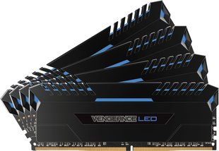 Corsair Vengeance LED DDR4, 4x8GB,3000MHz, CL16 Blue (CMU32GX4M4C3000C16B)