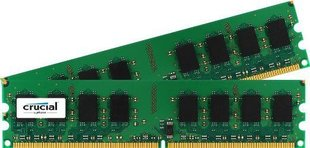 Crucial DDR2 4GB (2GBx2) 800MHz, CL6, Dual (CT2KIT25664AA800)