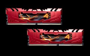 G.Skill DDR4 8GB (4GBx2) 2133MHz, CL15, Ripjaws 4 Red (F4-2133C15D-8GRR)