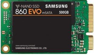 Samsung 860 EVO 500GB mSATA (MZ-M6E500BW) цена и информация | Внутренние жёсткие диски (HDD, SSD, Hybrid) | kaup24.ee