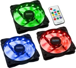 Lamptron Fan Meteor RGB-LED-Ring 120mm, controller panel + remote, 3 pcs (LAMP-MRGB12254)