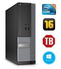 Dell 3020 SFF i3-4130 16GB 1TB DVDRW WIN10Pro цена и информация | Dell 3020 SFF i3-4130 16GB 1TB DVDRW WIN10Pro | kaup24.ee